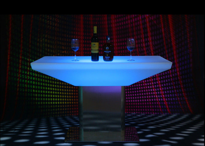 Glowing Illuminated Bar Tables 15 Colors Metal Stand 12 Months Warranty