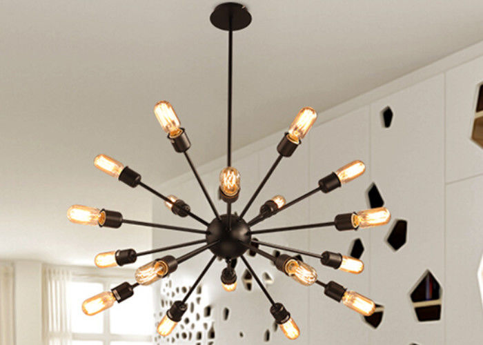 Multi - Head LED Downlight Ceiling Light Large Wrought Iron Pendant Lighting Kitchen